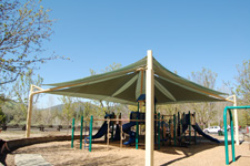 Park fabric shade structures