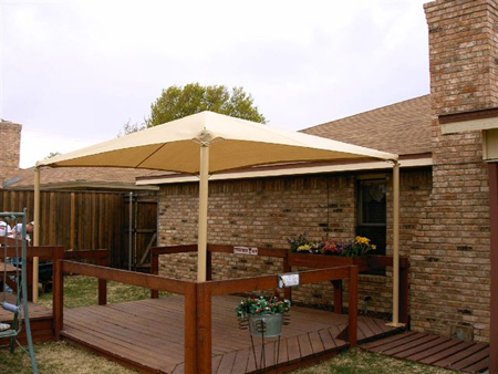 Fabric canopy photo 25 shade structures canopies shade sails and umbrellas - Shade canopy for deck ...